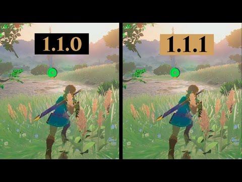 Zelda Breath of The Wild | 1.1.0 VS 1.1.1 Update | FRAMERATE FIXED