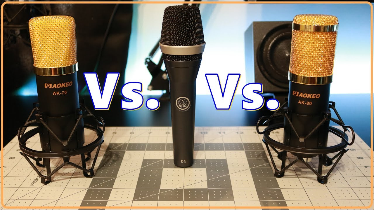 Budget Mic Showdown Aokeo Ak 70 Vs Aokeo Ak 80 Vs Akg D5 Youtube