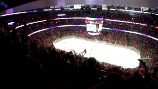 Andrew Desjardins Goal R1G3 2015 NHL Playoffs United Center GoPro