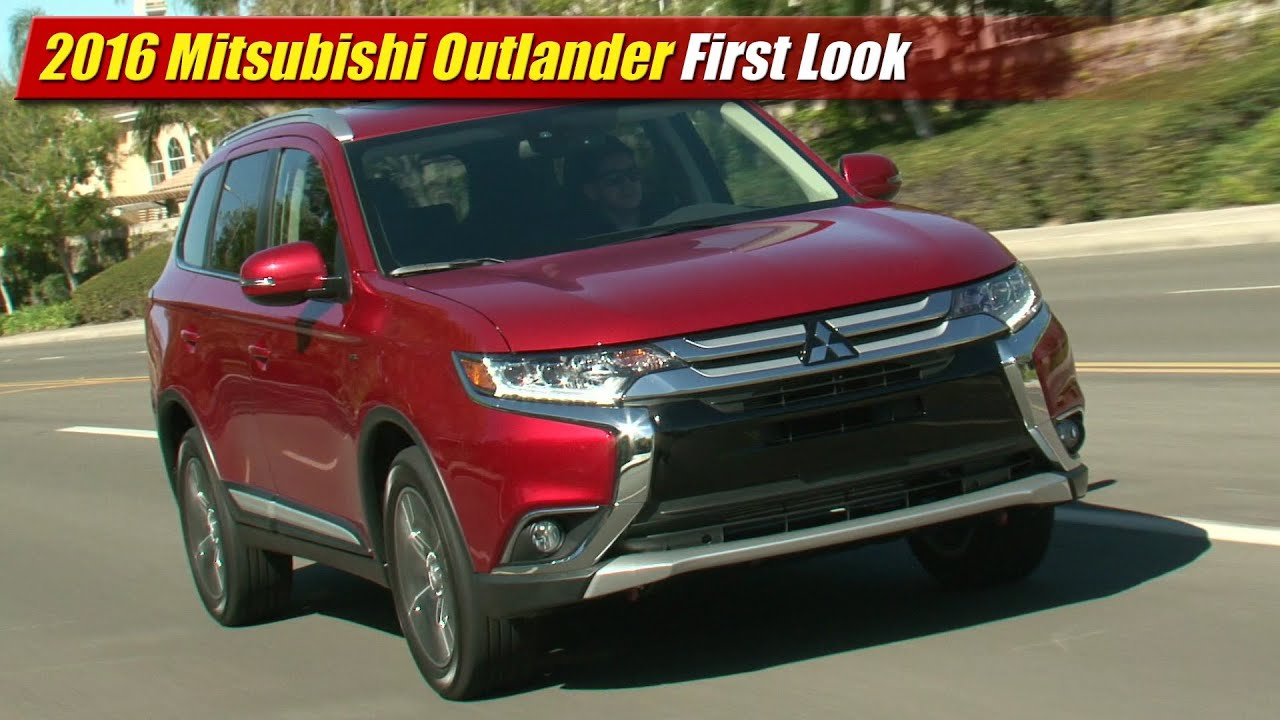 2016 mitsubishi outlander first look youtube