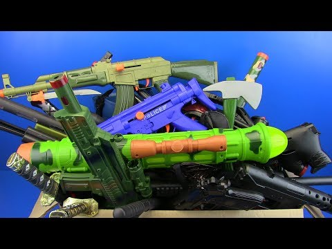 Box Of Toys ! Military & Police Guns Toys For Kids And More Toys