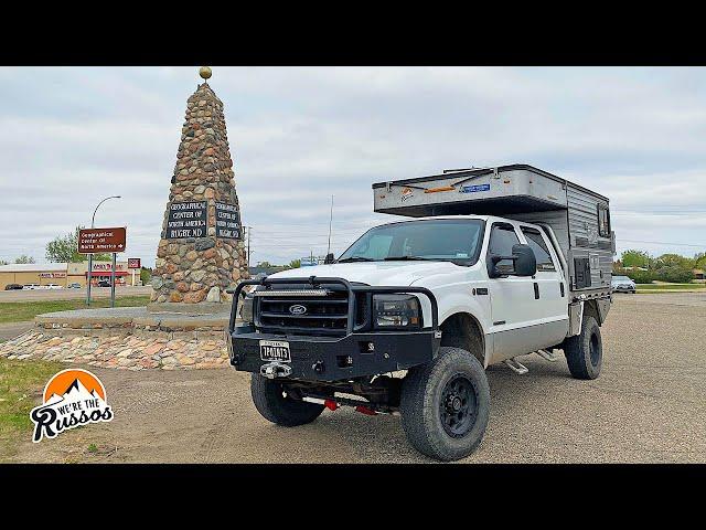 NORTH DAKOTA ROAD TRIP IN OUR 4X4 TRUCK CAMPER