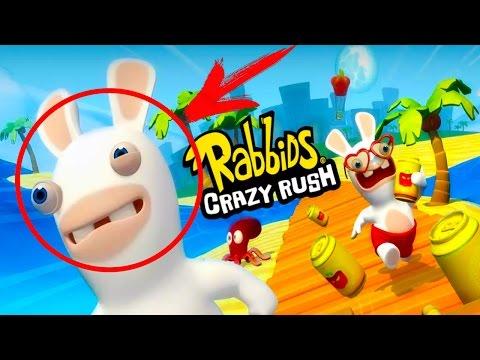Бешеные кролики смотрите прохождение Rabbids Crazy Rush на андроид. Игра как мультик 1 серия