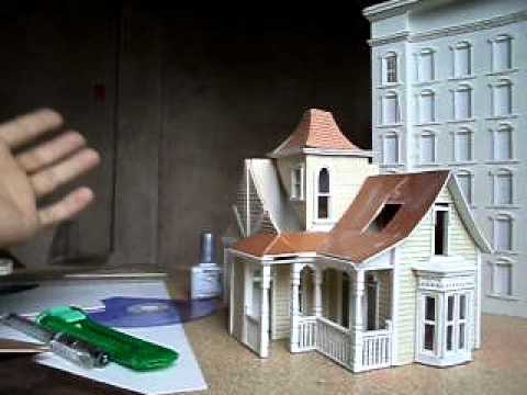 Miniature model houses built