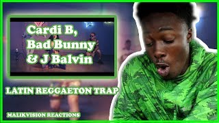 AMERICAN REACTS TO LATIN REGGAETON TRAP! CARDI B I LIKE IT REACTION , Bad Bunny & J Balvin |