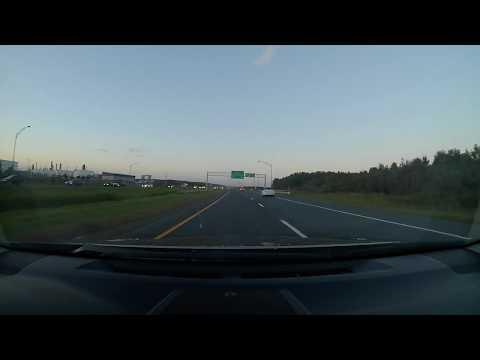 Exiting Quebec City via A73 bridge and A20 eastbound x3