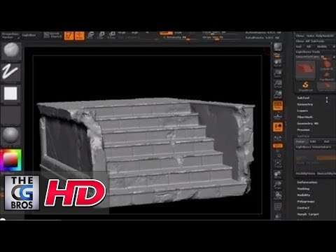 "CGI 3D Tutorial : ""Using ZBrush to Create Quick Beat Up Edges and Cracks"" - by 3dmotive"