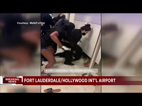 Video captures violent scene at Fort Lauderdale airport