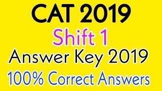 CAT Answer Key 2019 | CAT Shift 1 Answer Key 2019