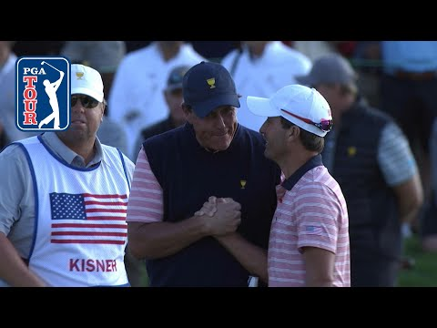 Phil Mickelson edges out win and dances with Kisner at Presidents Cup