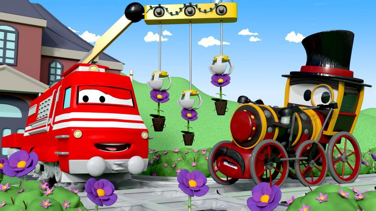 Trenuletul Troy - Troy,trenul gradinar,face cunostiinta cu Lordul Byron - Desene pentru copii