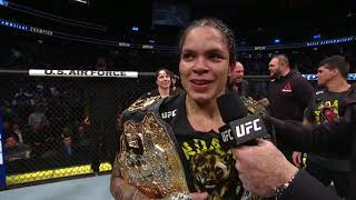 UFC 245: Amanda Nunes Octagon Interview