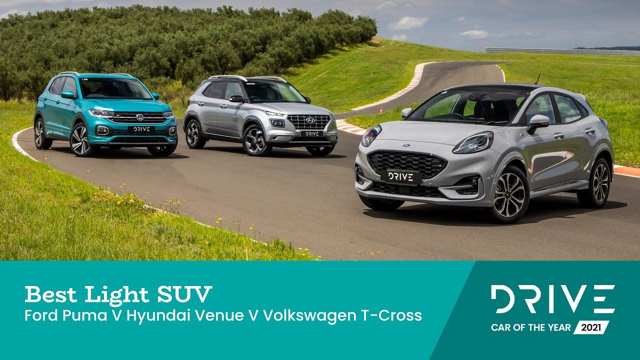 Ford Puma v Hyundai Venue v Volkswagen T Cross   Best Light SUV   Drive Car  of the Year 10