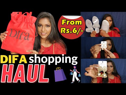 Starting From Rs.6/- | DIFA Shopping HAUL in Tamil | T Nagar Shopping Haul | Jaicy Victoria
