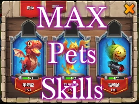 Castle Clash Max Level Pets Skills