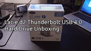 Lacie d2 Thunderbolt and USB 3.0 Hard Drive Unboxing (3TB)