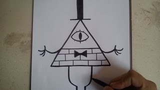COMO DIBUJAR A BILL  CIPHER - GRAVITY FALLS / how to draw bill cipher / gravity falls