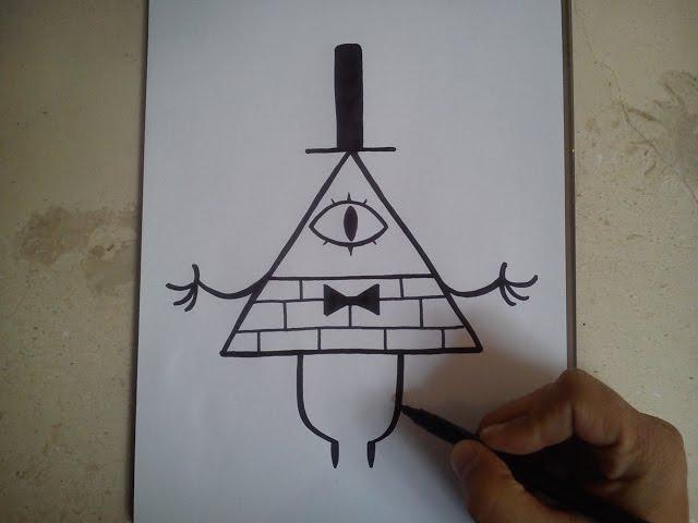 COMO DIBUJAR A BILL  CIPHER - GRAVITY FALLS / how to draw bill cipher / gravity falls
