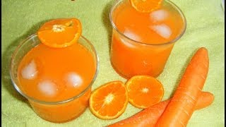 Carrot Orange Juice Using Blender - Refreshing Healthy Drink -summer Special