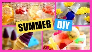 Summer Diys!  Diy Ice Cream, Popsicle, Perfume Spray, Yogurt Melts, Infused Water!