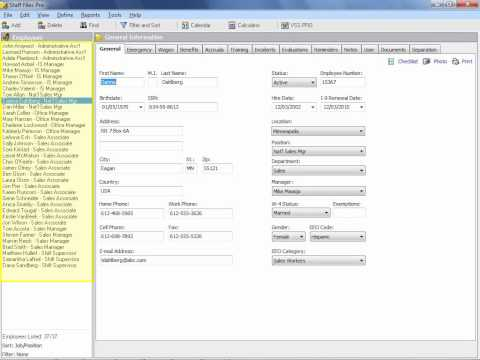 Keep Employee Files Organized and Up-To-Date with Human Resource Software
