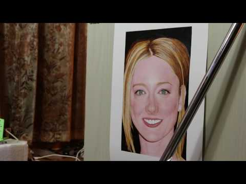 Painting of Judy Greer (work in process 26)