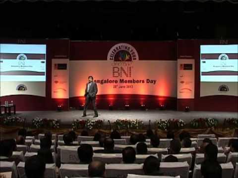 Mr. V S Reddy at BNI Bangalore Members day