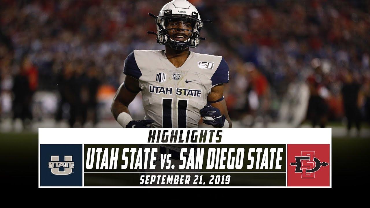 newest ade27 f88c2 Utah State vs. San Diego State Football Highlights (2019) | Stadium