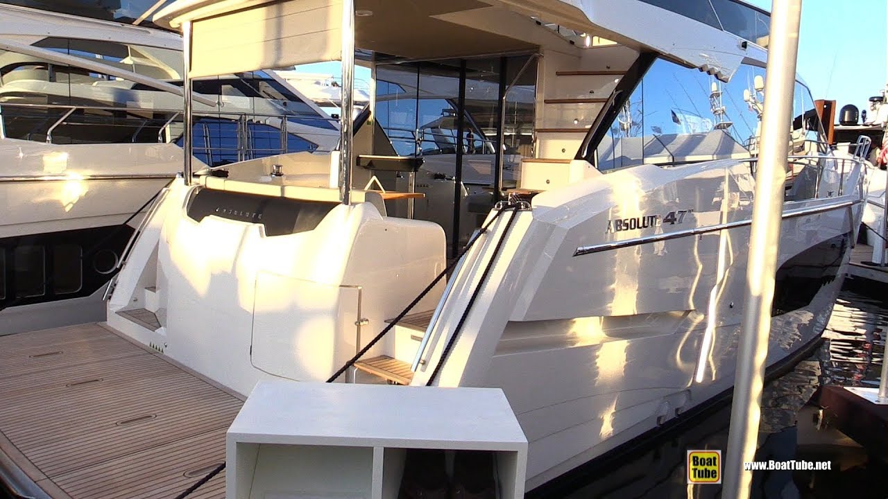 Fort Worth Boat Show 2020.2020 Absolute 47 Fly Yacht Deck And Interior Walkaround 2019 Fort Lauderdale Boat Show