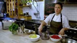 """Breville Presents Strawberry Sorbet - """"mind Of A Chef Techniques With April Bloomfield"""""""