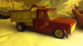 1970's structo red and yellow dump truck
