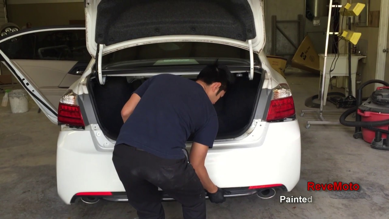 How To Install Mount A Honda Accord Rear Bumper Youtube 2001 Crv Parts Discount Factory Oem And Revemoto Painted Auto Body