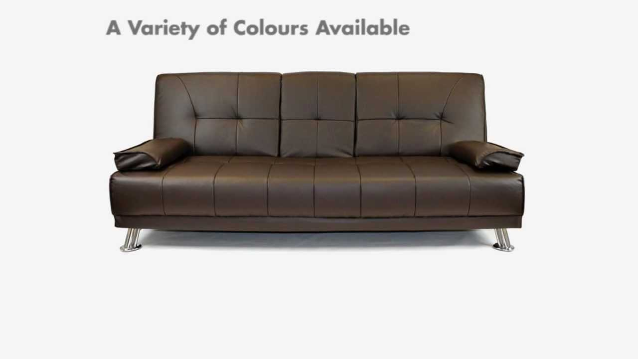 quality sofa bed uk fainting images click clack beds cheap leather clic clac youtube