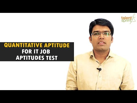 Quantitative Aptitude tricks and sample questions for IT Job