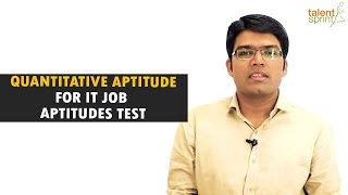 Quantitative Aptitude tricks and sample questions for IT Job Aptitude Test | TalentSprint
