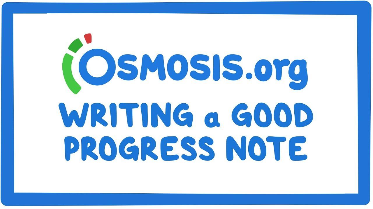 Clinician's Corner: Writing a good progress note