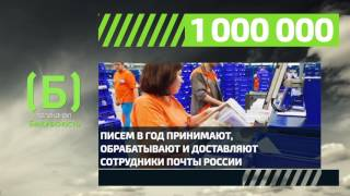 Сколько писем ежегодно доставляют сотрудники Почты России?