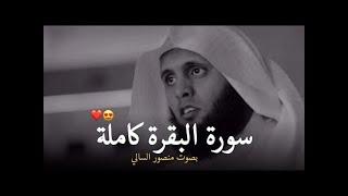 سورة البقرة كاملة بصوت منصور السالمي هدوء لايوصف || Quran Surah Al Baqara Mansour Al Salmi