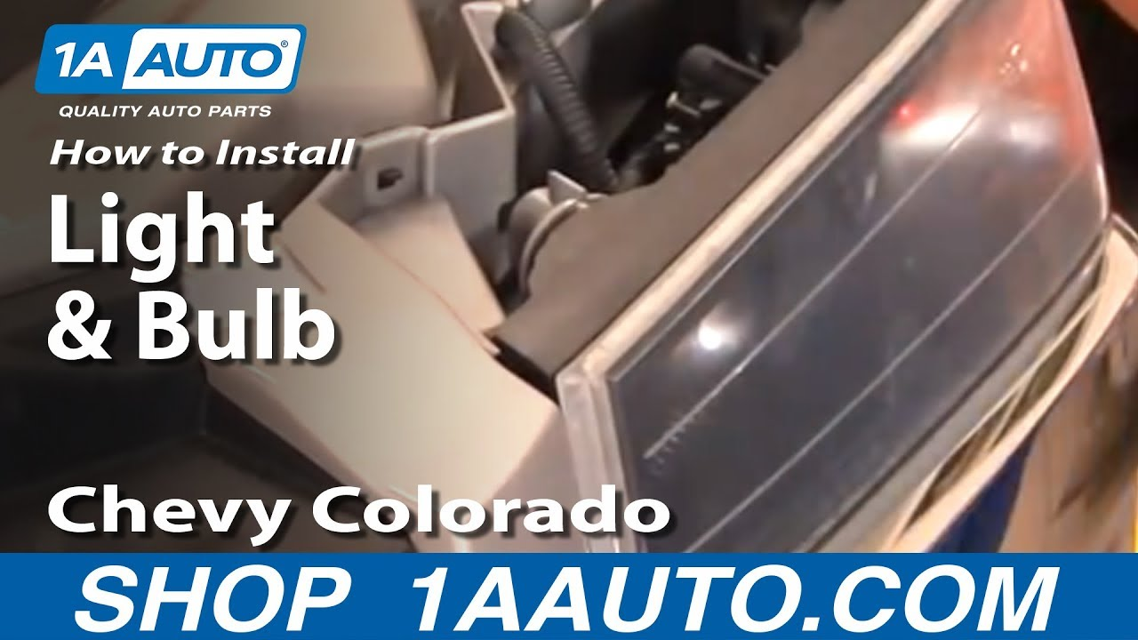 How To Replace Parking Light 04 12 Chevy Colorado 1a Auto