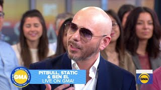 Pitbull Talks Collaborating with Static and Ben El on Good Morning America