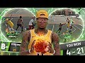 NBA 2K19 MyPARK - TRASH TALKER GETS MAD!! PERFECT GAME WITH ALL 21PTS!