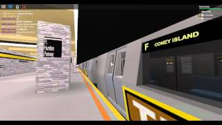 IND Subway: Coney Island bound R160A-2 TIX Ad-Wrapped (F) train Departing Fort Hamilton Pkwy