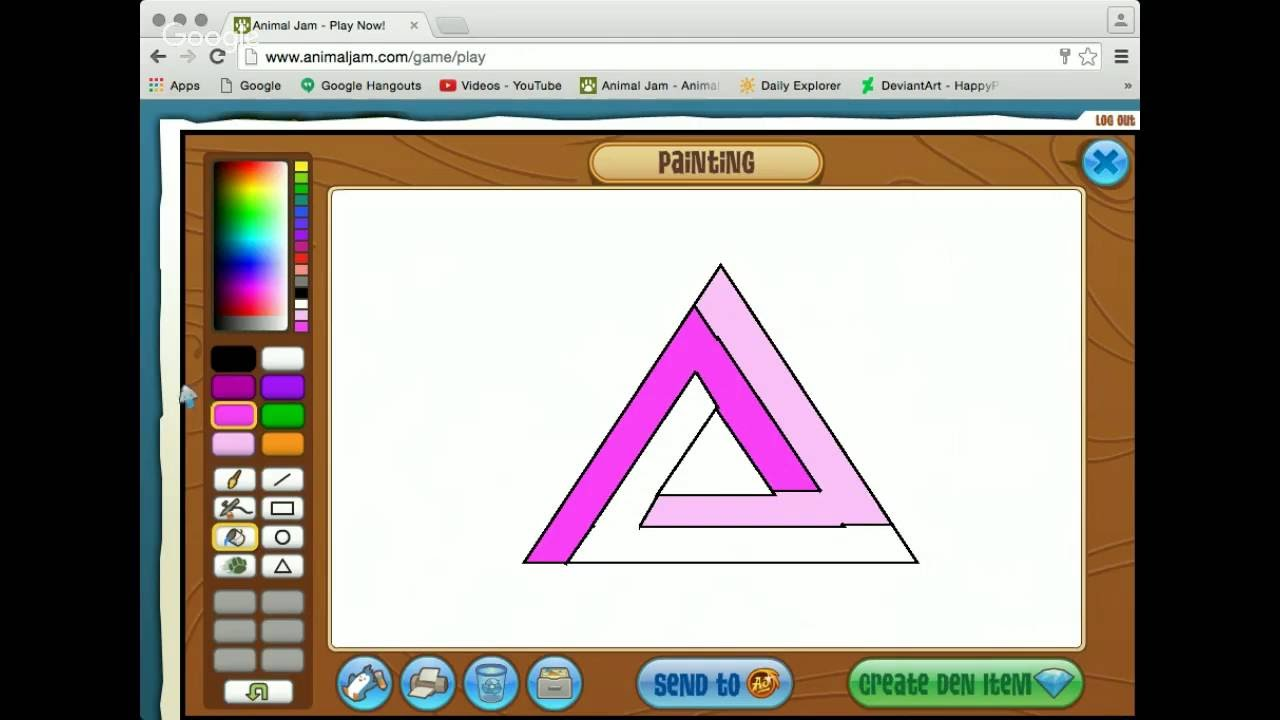 Animal Jam How To Draw A Penrose Triangle In The Aj Art Studio (livestream)
