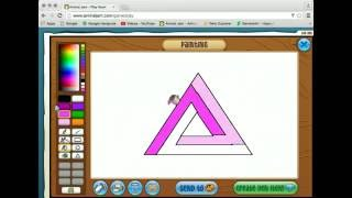 Animal Jam- How to Draw a Penrose Triangle in the AJ Art Studio (Livestream)