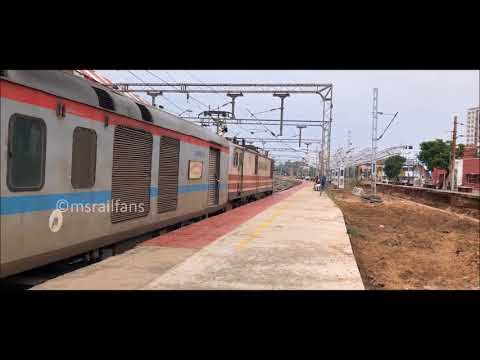 FIRST TIME WAP5 INVADES CHENNAI EGMORE - GAYA SF EXP CROSSING ELS/RPM : INDIAN RAILWAYS