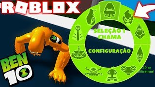 ROBLOX! BEN 10-NEW BEAST IN THE HOLOGRAM OF THE OMNITRIX AND FLAME LIGHTER! BEN 10 ARRIVAL OF ALIENS