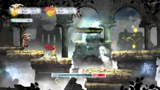 CHILD of LIGHT - Chap 2: Rubella, Igniculus Chat, Insectoid Combat & Team Skill Upgrades (Defense)