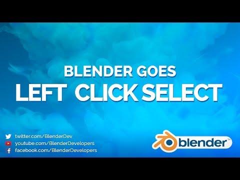 LEFT CLICK SELECT - Blender 2.8 Alpha 2