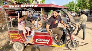 E -rickshaw chalayi mza aa gya 😍