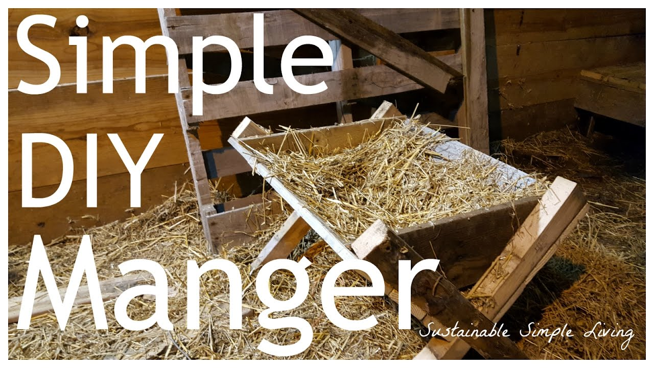Easy Diy Manger Great For Nativity Scenes Youtube